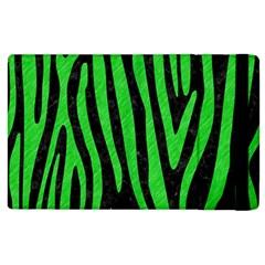 Skin4 Black Marble & Green Colored Pencil (r) Apple Ipad 2 Flip Case by trendistuff