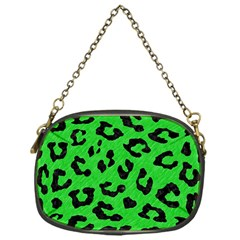 Skin5 Black Marble & Green Colored Pencil Chain Purses (one Side)  by trendistuff