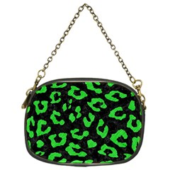 Skin5 Black Marble & Green Colored Pencil (r) Chain Purses (one Side)  by trendistuff