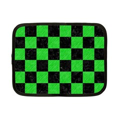 Square1 Black Marble & Green Colored Pencil Netbook Case (small)  by trendistuff