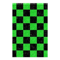 Square1 Black Marble & Green Colored Pencil Shower Curtain 48  X 72  (small)  by trendistuff