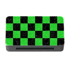 Square1 Black Marble & Green Colored Pencil Memory Card Reader With Cf by trendistuff