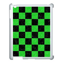 Square1 Black Marble & Green Colored Pencil Apple Ipad 3/4 Case (white) by trendistuff