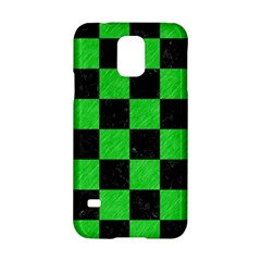 Square1 Black Marble & Green Colored Pencil Samsung Galaxy S5 Hardshell Case  by trendistuff