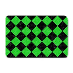 Square2 Black Marble & Green Colored Pencil Small Doormat  by trendistuff