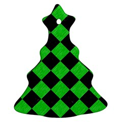 Square2 Black Marble & Green Colored Pencil Ornament (christmas Tree)  by trendistuff