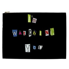 I Am Watching You Cosmetic Bag (xxl)  by Valentinaart
