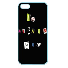 I Am Watching You Apple Seamless Iphone 5 Case (color) by Valentinaart