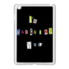 I Am Watching You Apple Ipad Mini Case (white) by Valentinaart
