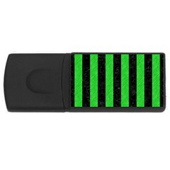 Stripes1 Black Marble & Green Colored Pencil Rectangular Usb Flash Drive by trendistuff