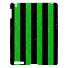 Stripes1 Black Marble & Green Colored Pencil Apple Ipad 3/4 Hardshell Case