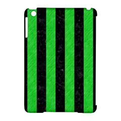 Stripes1 Black Marble & Green Colored Pencil Apple Ipad Mini Hardshell Case (compatible With Smart Cover) by trendistuff