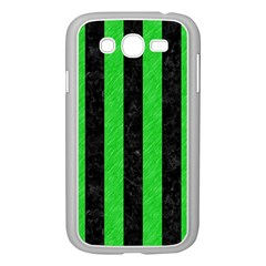 Stripes1 Black Marble & Green Colored Pencil Samsung Galaxy Grand Duos I9082 Case (white) by trendistuff