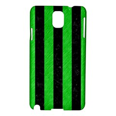 Stripes1 Black Marble & Green Colored Pencil Samsung Galaxy Note 3 N9005 Hardshell Case