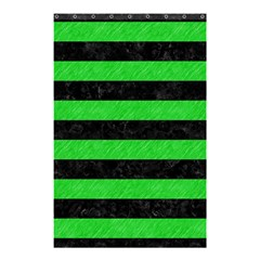 Stripes2 Black Marble & Green Colored Pencil Shower Curtain 48  X 72  (small)  by trendistuff