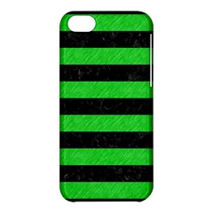 Stripes2 Black Marble & Green Colored Pencil Apple Iphone 5c Hardshell Case by trendistuff