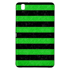 Stripes2 Black Marble & Green Colored Pencil Samsung Galaxy Tab Pro 8 4 Hardshell Case by trendistuff