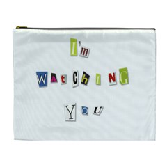 I Am Watching You Cosmetic Bag (xl) by Valentinaart