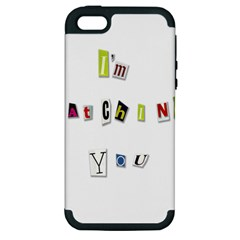 I Am Watching You Apple Iphone 5 Hardshell Case (pc+silicone) by Valentinaart