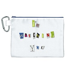 I Am Watching You Canvas Cosmetic Bag (xl) by Valentinaart