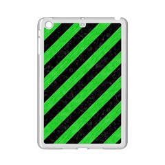 Stripes3 Black Marble & Green Colored Pencil Ipad Mini 2 Enamel Coated Cases by trendistuff
