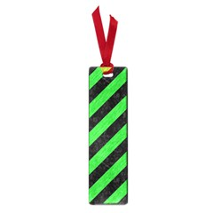 Stripes3 Black Marble & Green Colored Pencil Small Book Marks by trendistuff