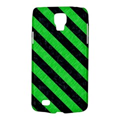 Stripes3 Black Marble & Green Colored Pencil (r) Galaxy S4 Active by trendistuff