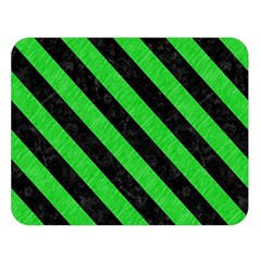 Stripes3 Black Marble & Green Colored Pencil (r) Double Sided Flano Blanket (large)  by trendistuff