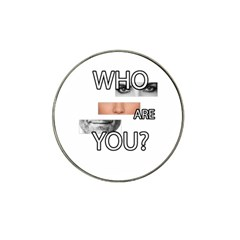 Who Are You Hat Clip Ball Marker by Valentinaart