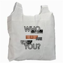 Who Are You Recycle Bag (one Side) by Valentinaart