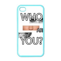 Who Are You Apple Iphone 4 Case (color) by Valentinaart