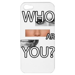 Who Are You Apple Iphone 5 Hardshell Case by Valentinaart