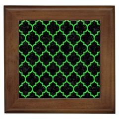 Tile1 Black Marble & Green Colored Pencil Framed Tiles by trendistuff