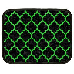 Tile1 Black Marble & Green Colored Pencil Netbook Case (xl)  by trendistuff