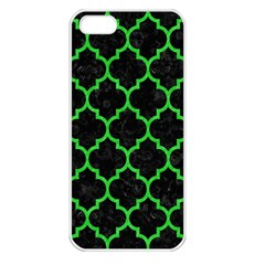 Tile1 Black Marble & Green Colored Pencil Apple Iphone 5 Seamless Case (white) by trendistuff