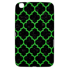 Tile1 Black Marble & Green Colored Pencil Samsung Galaxy Tab 3 (8 ) T3100 Hardshell Case