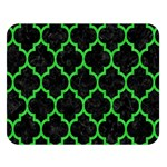 TILE1 BLACK MARBLE & GREEN COLORED PENCIL Double Sided Flano Blanket (Large)  80 x60 Blanket Front