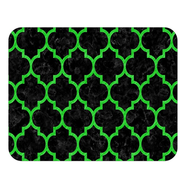 TILE1 BLACK MARBLE & GREEN COLORED PENCIL Double Sided Flano Blanket (Large)