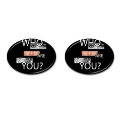 Who Are You Cufflinks (oval) by Valentinaart