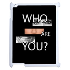 Who Are You Apple Ipad 2 Case (white) by Valentinaart