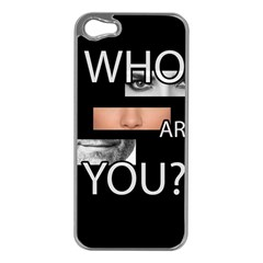 Who Are You Apple Iphone 5 Case (silver) by Valentinaart