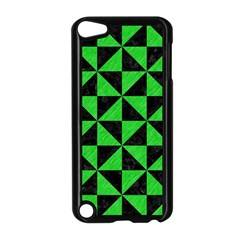 Triangle1 Black Marble & Green Colored Pencil Apple Ipod Touch 5 Case (black) by trendistuff