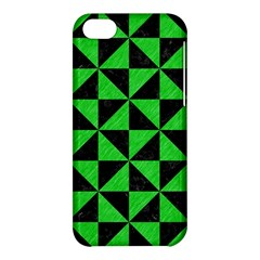 Triangle1 Black Marble & Green Colored Pencil Apple Iphone 5c Hardshell Case by trendistuff