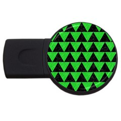 Triangle2 Black Marble & Green Colored Pencil Usb Flash Drive Round (4 Gb)