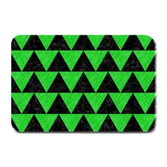 Triangle2 Black Marble & Green Colored Pencil Plate Mats by trendistuff