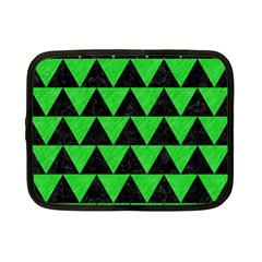 Triangle2 Black Marble & Green Colored Pencil Netbook Case (small)  by trendistuff