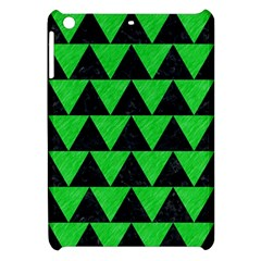 Triangle2 Black Marble & Green Colored Pencil Apple Ipad Mini Hardshell Case by trendistuff