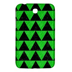 Triangle2 Black Marble & Green Colored Pencil Samsung Galaxy Tab 3 (7 ) P3200 Hardshell Case  by trendistuff