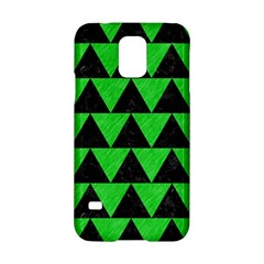 Triangle2 Black Marble & Green Colored Pencil Samsung Galaxy S5 Hardshell Case  by trendistuff