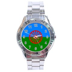 Gypsy Flag Stainless Steel Analogue Watch by Valentinaart